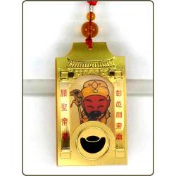 立體錢母卡-彩色壓紋關聖帝君