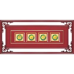 CL02 琉璃匾額-梅蘭菊竹