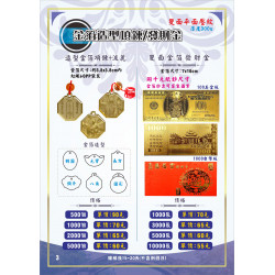 金箔造型吊飾/發財金