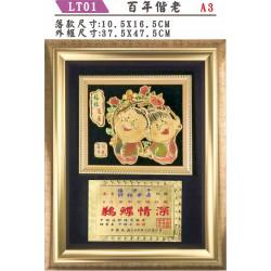 A3 立體獎牌 LT31-01百年偕老